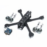 iFlight XL5 V4 227 mm frame + iFlight SucceX-E F4 & 45A 4 in 1 borstelloze ESC-stapel + 4 stuks Racerstar SIC 2207 2688KV motor