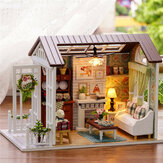 Cuteroom Forest Times Kits Madera Dollhouse Miniatura DIY Casa Artesanía Toy Idea Regalo Happy times