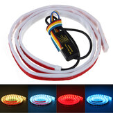 1.2M 1.5M 10W Car Tail Box Fluid LED Light Strip Brake Running Turn Signal Reversing Lamp Rear Trunk Area Illumination