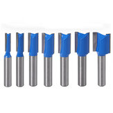 Drillpro 7Pcs 8mm Striaght Shank Router Bit Swallow Tail Woodworking Etching Milling Cutting Tools