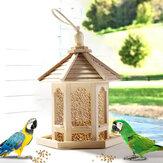 Rede de gaiola de pássaro de quadro de alimentador de casa de pássaro de madeira para ferramenta de alimentação