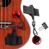 Pastilla de contacto piezoeléctrico Micrófono con correa Abrazadera para guitarra violín ukelele banjo