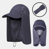 Foldable Sun Protection Cover Face Visor Outdoor Fishing Hat Summer Quick-drying Cap Breathable Hat Baseball Cap