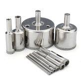 10 unidades com revestimento de diamante Broca bits 3-50 mm conjunto de cortador de serra para vidro e mármore granito