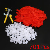500Pcs Clips+200Pcs Wedges Tile Leveling System Spacer+Pliers