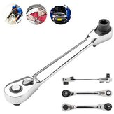 1/4 Inch Ratchet 72 Teeth Drive Socket Wrench Quick Release Dual Head Spanner
