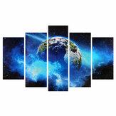 5 Pcs Frameless Enorme Arte Da Parede Óleo Pintura Pictures Print Blue Planet Pintura Em Tela Home Office Sala de estar Decoração