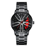 ONOLA ON3822 Visible Dial 3D Hollow Wheel Hub Design Men Fashion Watch Quartz Watch