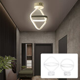 AC85-265V Modern LED Ceiling Lamp Dual Ring Chandeliers Fixture Living Room Pendant Light