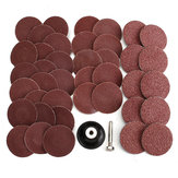 40pcs 2 Inch Roll Lock Sanding Disc 40/80/120/240 Grit Abrasive Tool With Mandrel