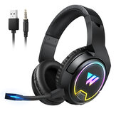 WINTORY W1 Wireless bluetooth Headphone with Detachable Mic Surround Sound 3.5mm Audio Cable for Phone PC Laptop