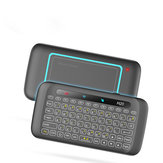 H20 Mini Colorful Backlight Air Mouse com Painel Touch Pad Mini Teclado Sem Fio