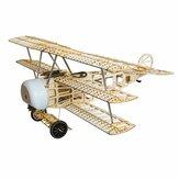 Fokker Dr.I 770mm Wingspan Balsa Wood Triplane Warbird RC Airplane KIT