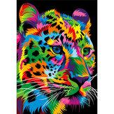 DIY 5D Pintura com Diamantes Leopardo Tigre Leão Lobo Arte Artesanato Kit de Ponto de Bordado Decorações de Parede Feito à Mão Presentes para Crianças