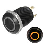 12v 4 Pin 12mm Led Light Logam Push Button Sesaat Beralih Tahan Air Hitam