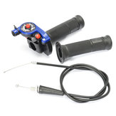 22mm 7/8 inch Twist Throttle Met Kabel Blauw 125cc 140cc 150c Pit Bike