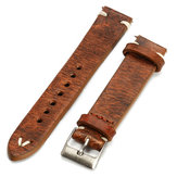 Straps Vintage Style Distressed Wome / Herrenuhr Band Strap with Stitching