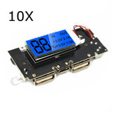 10Pcs Dual USB 5V 1A 2.1A Mobile Power Bank 18650 Battery Charger PCB Module Board