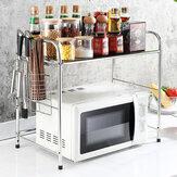 Cremalheira de forno de microondas de camada única Bakeey 50/60 cm em aço inoxidável