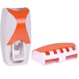 Ev Tuvalet Banyo için otomatik Diş Macunu Dispenser Diş Fırçası Tutucu Raf