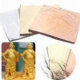 100pcs Imitasyon Altın Gümüş Bakır Yaprak Folyo Kağıt Sanatı Altın El Sanatları 14x14cm
