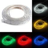 Impermeável 2m IP67 60smd 5050 vermelho / azul / verde / branco morno branco rgb LED tira de 220v / / luz