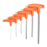 6Pcs T Handle Ball Ended Hex Key Set Long Reach Allen Screwdriver Wrench Tool 22.53568mm
