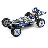 Wltoys 124017 kefe nélküli, továbbfejlesztett RTR 1/12 2,4G 4WD 70 km / h RC autós járművek fém alváz modellek játékok