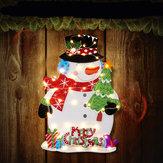 Zasilany baterią LED Świecące Snowman Christmas Party Wiszące ozdoby Festival Holiday Light