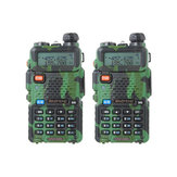 2pcs BAOFENG UV-5R Dual Band Handheld Transceiver Two Way Radio Walkie Talkie