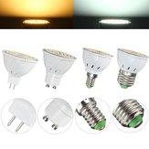E27 E14 GU10 MR16 4W 80 SMD 3528 Não-regulável LED Lâmpada de lâmpada Spot Lightt Branco aconchegante AC110 / 220V