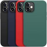 NILLKIN Bumpers odporny na wstrząsy odciski palców gładki Soft płynny silikonowy pokrowiec ochronny tylna pokrywa dla iPhone 12 Mini 5.4 cala
