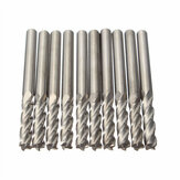10pcs 3.175mm Vástago Fresa de carburo CNC 4 Flauta Espiral Bit End Mill CEL 15mm