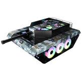 TK20 Bilgisayar PC Kılıf Oyun Kasası Özel Tank Şeklinde 120mm Fanlar Su Soğutma Temperli Cam Desteği ATX / ITX / MicroATX / E-ATX Anakart