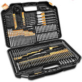 246PCS HSS DRILL BIT SET SCREWDRIVER BITS IN STORAGE CASE DIY WOOD METAL