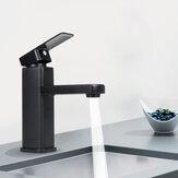 Preto fosco Banheiro Bacia da torneira da pia Fria / Quente Torneira Misturadora Monocomando