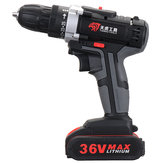 36V Electric Cordless Drill 28NM Brushless Screwdriver With LED Rechargeable Battery