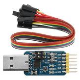 6 en 1 CP2102 USB a TTL 485 232 convertidor 3.3V / 5V Seis Módulo de serie multifunción compatible