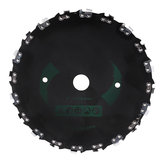 230mm Brushcutter Blade Replacement Brushcutter Saw Blade with Chain for Trimmer Lawnmover