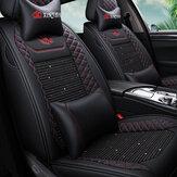 (Voor + achter) Slijtvast Ademend Leer Autostoel Kussenhoezen voor vijf zitplaatsen Auto Algemene auto-accessoires