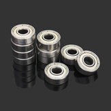 Machifit 10pcs 6x17x6mm 606zz Steel Sealed Shielded Deep Groove Ball Bearing