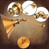 Vintage E27 Swing Arm Brass Wall Lamp Sconce Living Room Stair Restaurant Antique Light