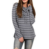 Casual Women Striped Long Sleeve T-Shirts