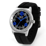 GT 006 Silica Gel Strap Car Racing Style Fashion Sport Casual Men Quartz Wrist Watch