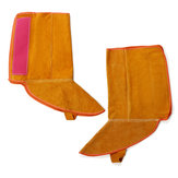 1Pair 8.3 Inch Cowhide Leather Welding Feet Protection Cover Sleeves Flame Resistant Safe Gloves