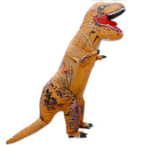 2.2メートルまでインフレータブルおもちゃ恐竜ハロウィン衣装服大人パーティーファンシー動物服ファン付き