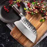 KCASA MCD39ステンレス鋼鍛造ナイフ肉包丁肉屋ナイフキッチンシェフナイフツール黒檀ウッドハンドル