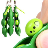 Extrusion Bean Toy Mini Squishy Soft Brinquedos Pingentes Anti Stress Ball Squeeze Gadgets Phone Strap