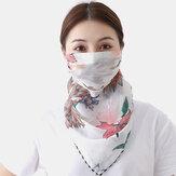 Verano Impresión de secado rápido Cuello Mascara Bufanda de protección solar al aire libre Cara de montar Mascara Transpirable