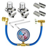 3Pc/Set BPV31 Bullet Piercing Tap Valve U-Charging Hose Refrigerant Can Tank Kit